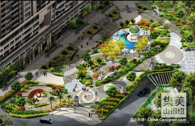 户外园林景观鸟瞰图-吴宗建的设计师家园-现代