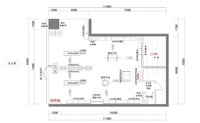 新街口物美店平面图-小如的设计师家园-22企业viv家园口碑图片