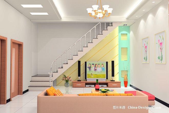 楼梯客厅-张磊的设计师家园-中式,客厅