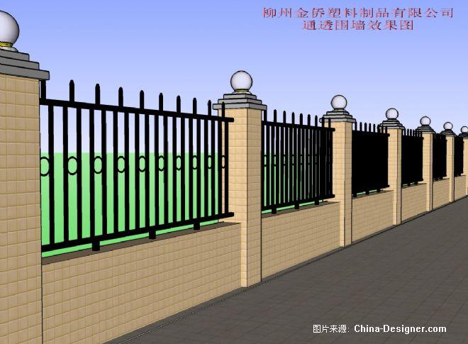 新厂通花围墙效果图2-黄志钢的设计师家园-灰色,现代图片