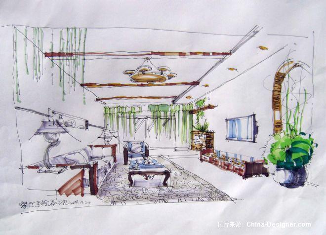 一个室内设计师要手绘一张客厅装修效果图要多长时间