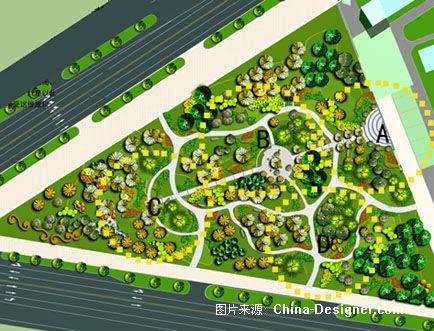 平面2-谭晓丹的设计师家园-三角绿地