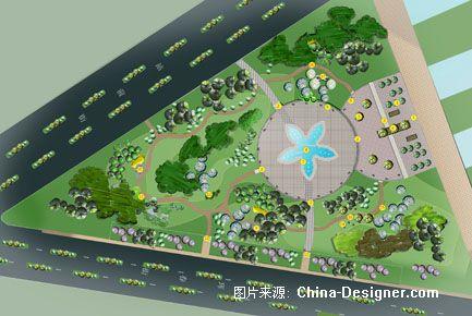 平面3-谭晓丹的设计师家园-三角绿地图片