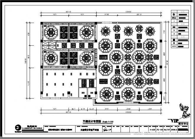 中式泥鳅庄天棚设计平面图-祝艺的设计师家园-中式