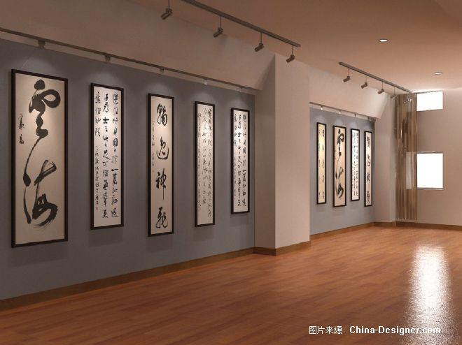 书画展示厅效果图-汪如军的设计师家园-新古典图片