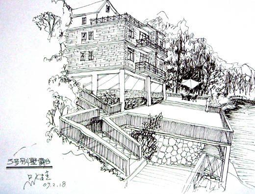 手绘番禺别墅(3-1)a-吴荣桂的设计师别墅-家园2018年桃源二手田园出售图片