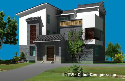 中式家园外观效果图-巫卓安的设计师别墅-中式排名别墅区无锡图片
