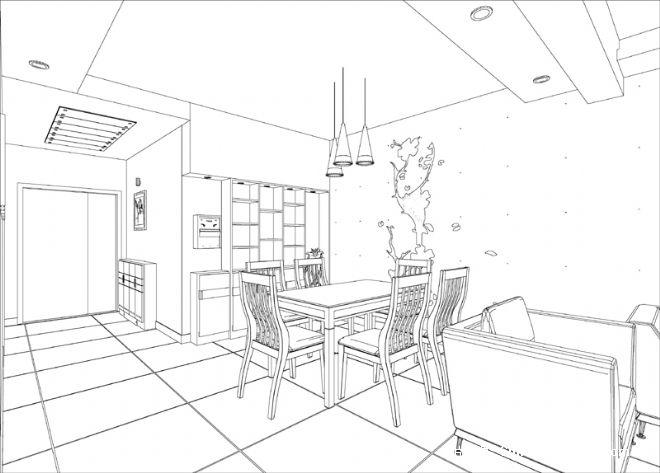 小周的餐厅手绘图02-张真伍的设计师家园-现代