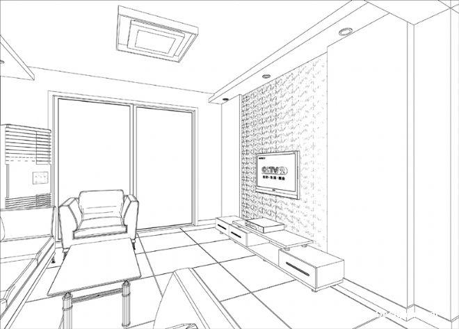 小周的客厅手绘图02-张真伍的设计师家园-现代