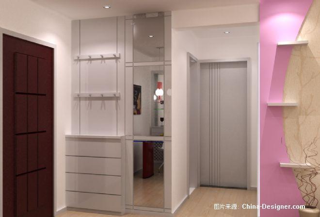 鞋柜挂衣墙-雷伟的设计师家园-衣帽间,白色,现代