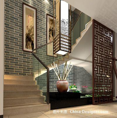 楼梯景观-覃东顺的设计师家园-中式图片
