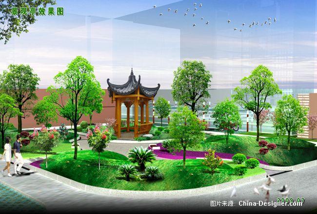 景观亭子效果图-世昌园林装饰设计事务所的设计师家园-200万以上