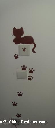 笨熊手绘开关-笨熊的设计师家园-小猫手绘开关组