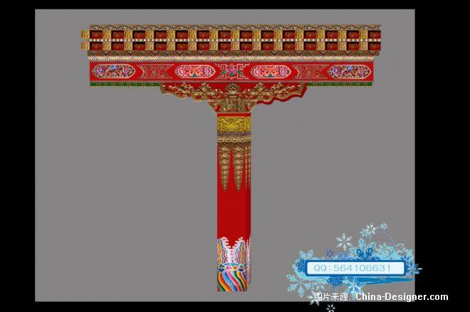 寺庙柱子-大耀的设计师家园-藏式