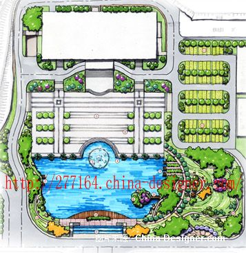 工厂景观平面-陈茉的设计师家园-工厂绿化