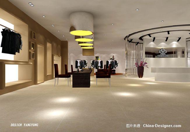 银衫皮草-专店设计角度c-杨勇的设计师家园-白色