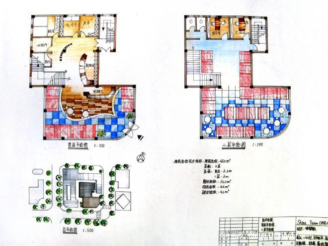 咖啡厅设计平面图-徐慧敏的设计师家园-沉稳