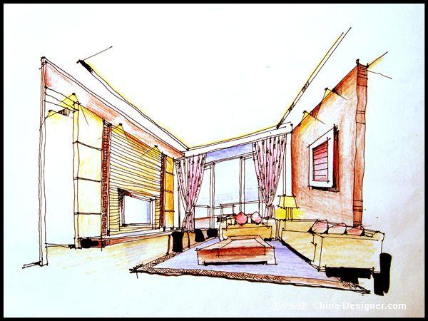 手绘图ccc-周伟美的设计师家园-客厅,现代