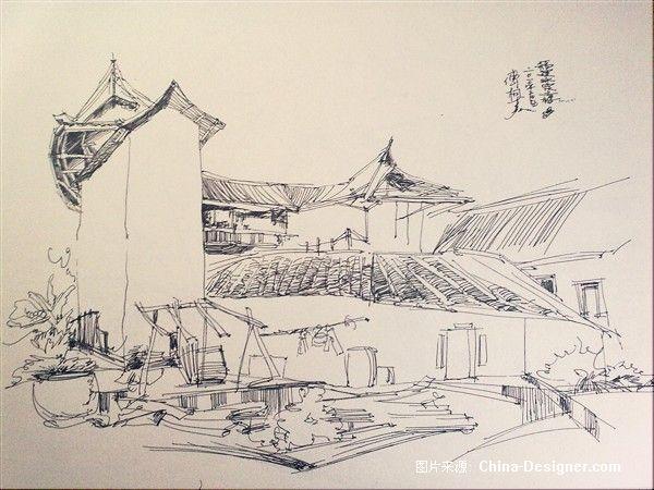 写生速写87-傅枫嘉的设计师家园-风景,写生,素描,速写