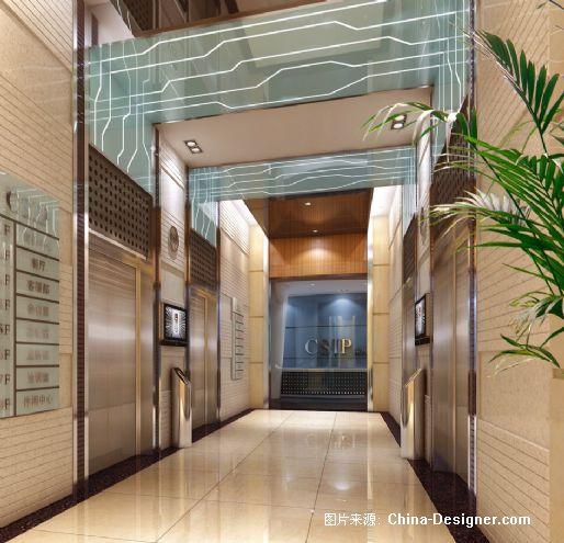 电梯间效果图-唐沪斌的设计师家园-沉稳图片