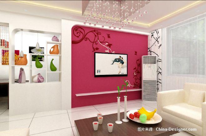 影视墙-孙海燕的设计师家园-粉色,现代