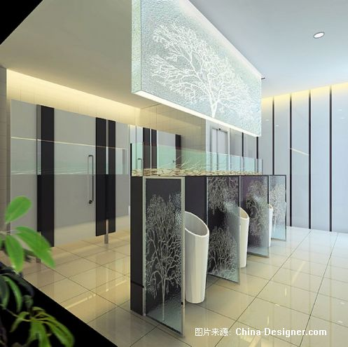 水木男洗手间效果图文本_neo_img-融度室内建筑设计有限公司的设计师