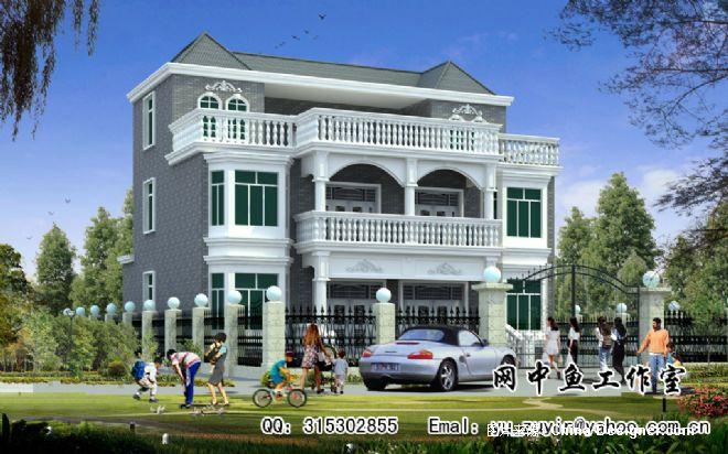 大胆创别墅才会大栋_三层双栋别墅-余祖银的设计师家园-20-30万,别墅,客厅,灰色,现代