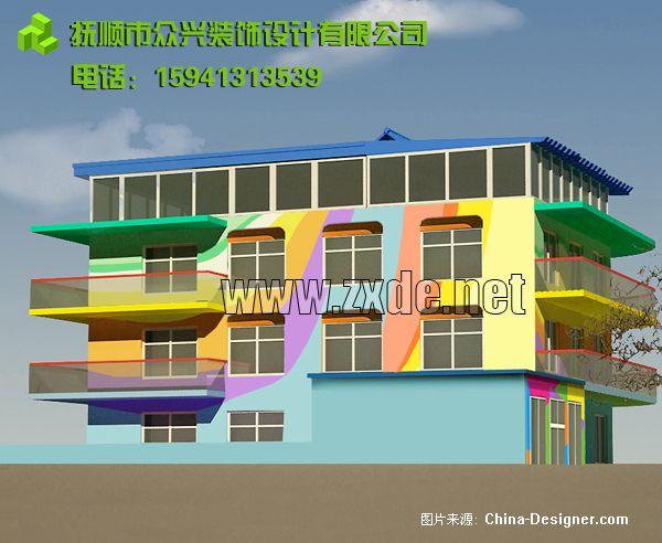 2-众兴装饰的设计师家园-幼儿园外墙涂料墙画