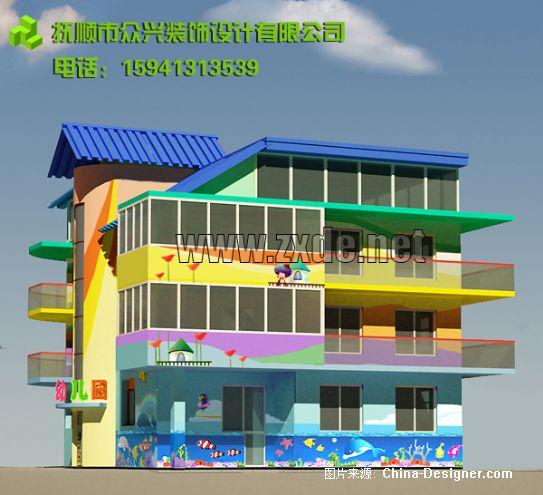 3-众兴装饰的设计师家园-幼儿园外墙涂料墙画
