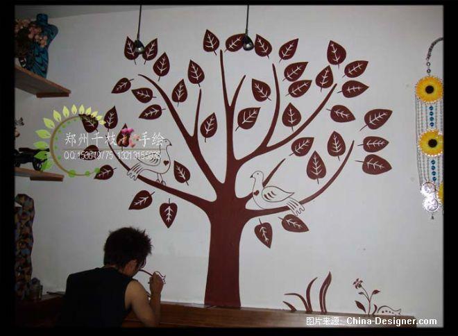 北欧酒廊4-郑州千枝花手绘装饰的设计师家园-墙绘,手绘墙,墙体彩绘图片