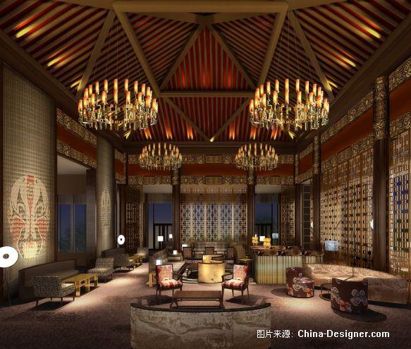 02-大堂吧-刘红蕾的设计师家园-沉稳,中式