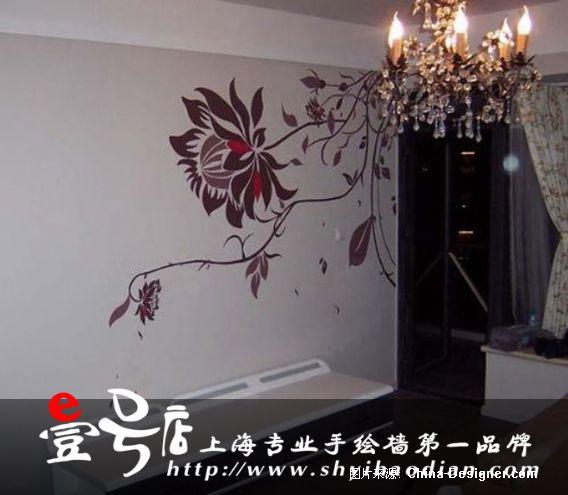 室内家装手绘墙1.客厅1.电视机背景墙1.