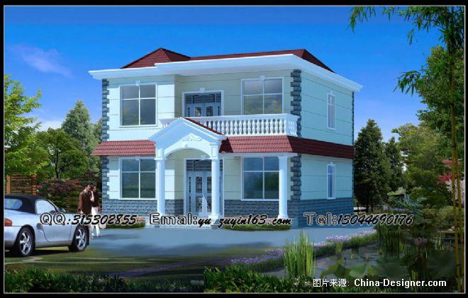 两层经济型别墅外观-余祖银的设计师家园-20-30万,四居,餐厅,沉稳