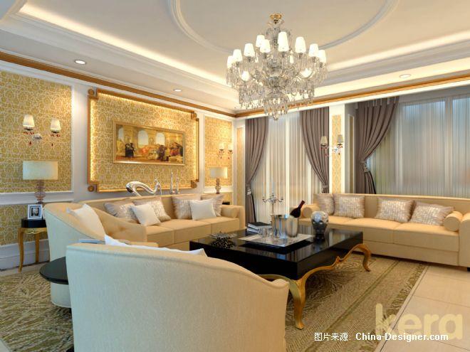 简欧式客厅沙发背景  标签:20-30万  复式  客厅  白色  欧式
