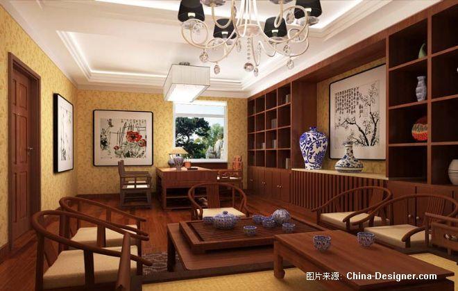 老总办公室-东子的设计师家园-中式图片