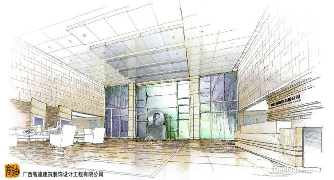 《大堂手绘图副本》-设计师:广西高迪建筑装饰设计.师