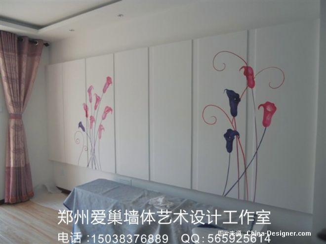 郑州墙绘 藤蔓类 电视墙 墙体彩绘-郑州墙绘-郑州爱巢美居墙绘的设计