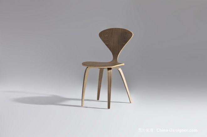 cf803曲木夹板贴木皮椅子,三脚椅子,现代简约个性时尚椅子-深圳雅帝