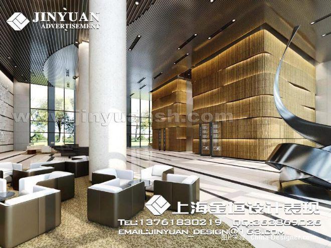 办公楼大厅效果图-上海金垣效果图公司的设计师家园-大厅,办公楼