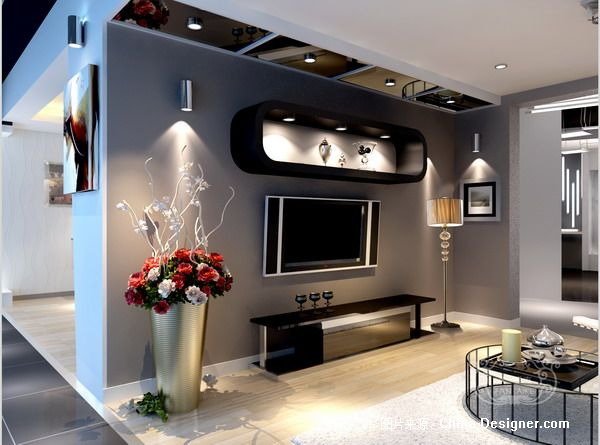 银雨照明家居体验区效果图2-深圳凡爱克设计(佛山)工作室的设计师家园