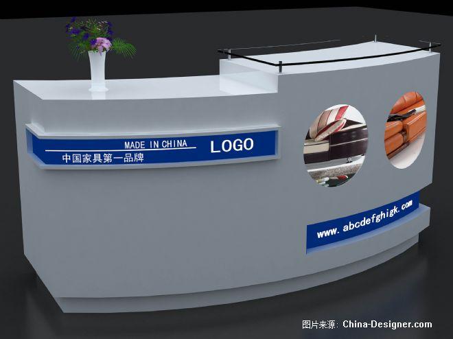 展览服务台效果图(弯)-张生元的设计师家园-所谓设计