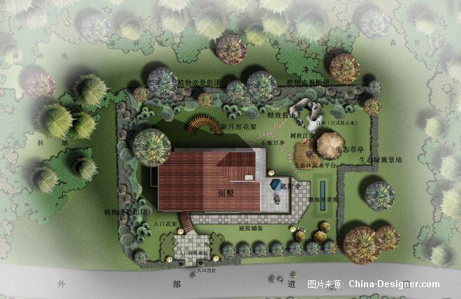 别墅庭院平面图-方坤的设计师家园-100-200万,新古典,现代,田园,沉稳
