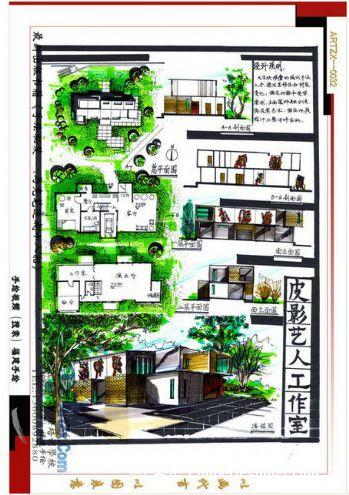 福建手绘-011-施并招的设计师家园-快题设计,手绘效果图,艺术在线图片