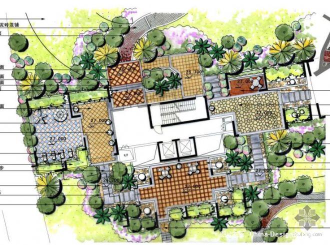 沈阳别墅庭院园林设计景观绿化施工建筑效果图制作表现