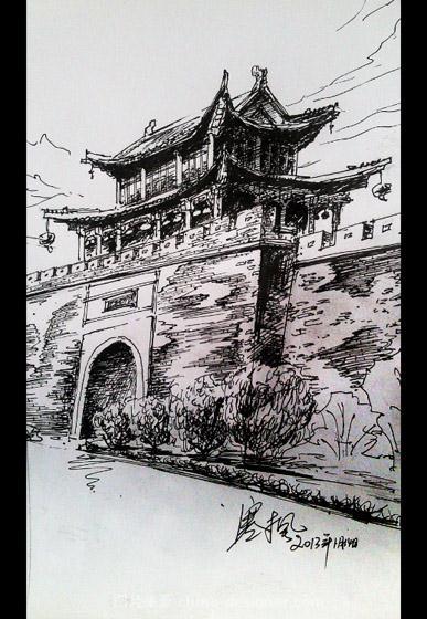商丘古城风景写生-商丘装饰的设计师家园-71623,467884,29238,2254