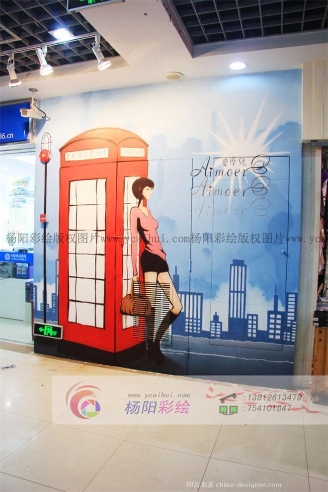 服装店墙体彩绘,服装城壁画,创意手绘墙-苏州手绘墙的设计师家园-478
