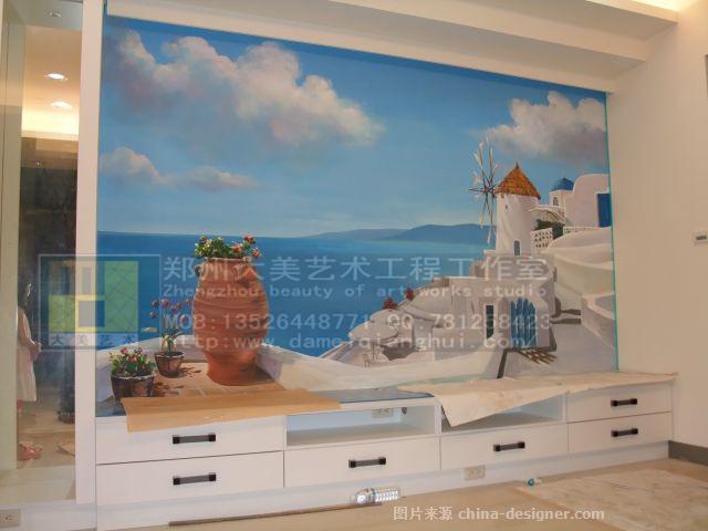郑州海风景墙体彩绘壁画-郑州大美墙体彩绘艺术工作室的设计师家园-48