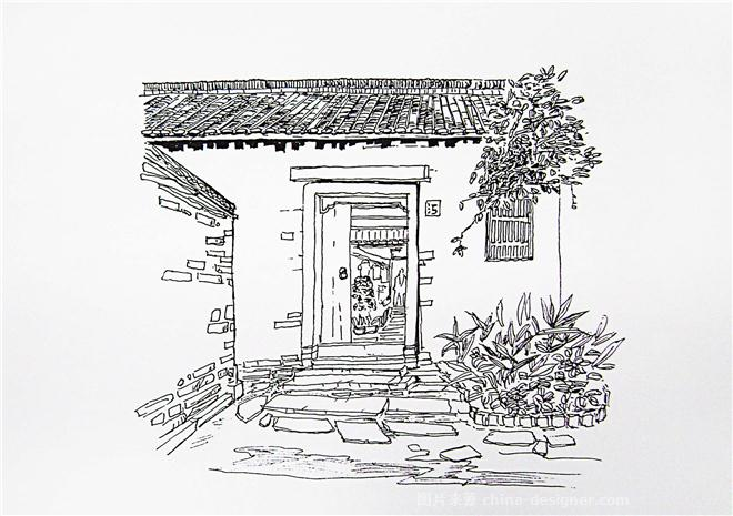 手绘-古建筑-王名锋的设计师家园-683769