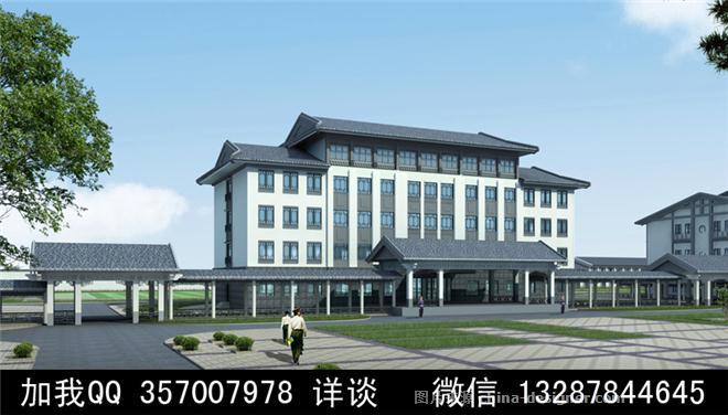 办公楼外观设计案例效果图-室内设计师93的设计师家园-692914