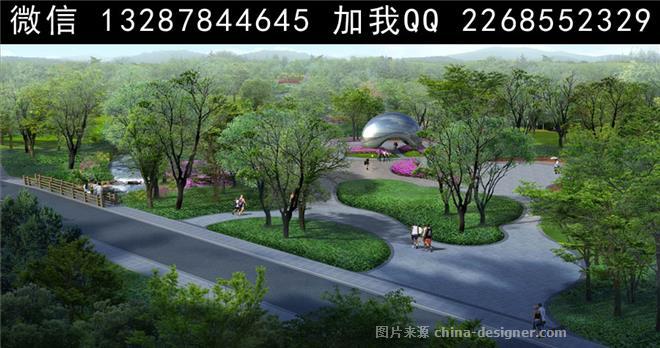 公园园林景观设计案例效果图-室内设计师93的设计师家园-707853